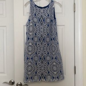 Flower lace overlay dress
